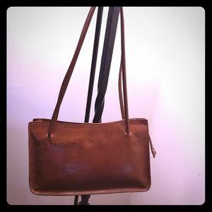 Monsac leather shoulder bag.
